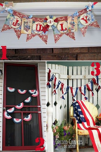 4th of july tassel banner
