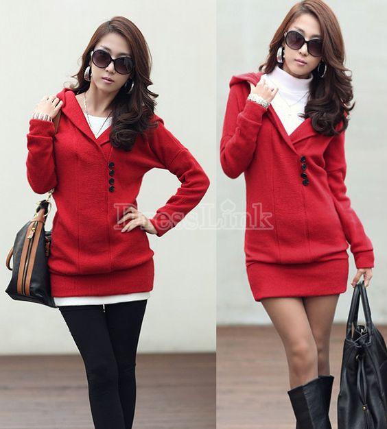 Dress hoodie. Red!