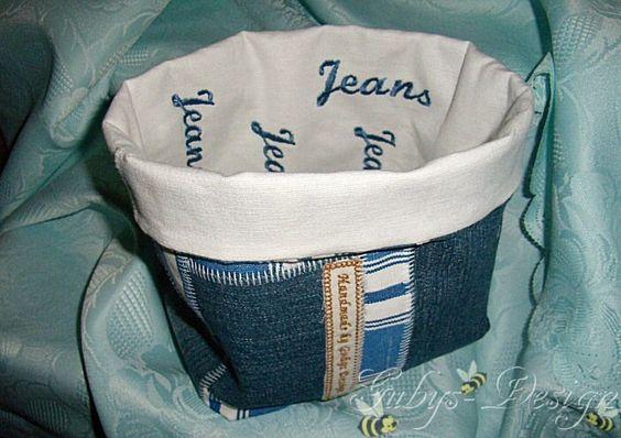 Utensilie aus Jeansstoff