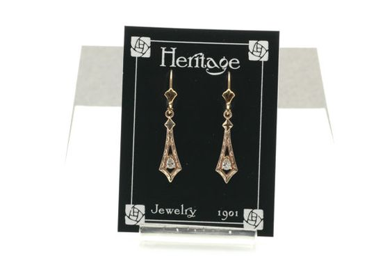 Downton Abby Period Diamond Earrings A254 by HeritageJewelry1901, $572.00