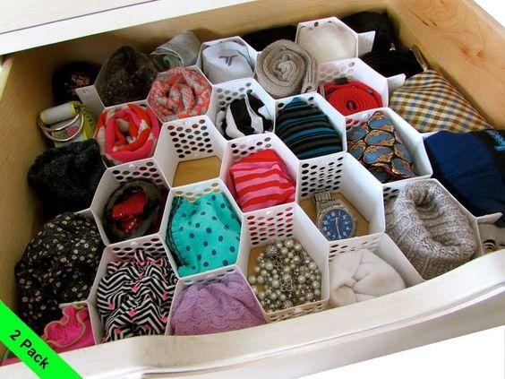Honeycomb Drawer Organizer Storage Divider Socks Underwear Arts & Crafts 2pk