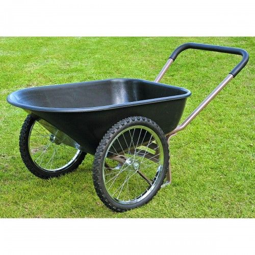 How To Build A Garden Cart Using Bicycle Wheels Garden Cart Wheelbarrow Yard Cart