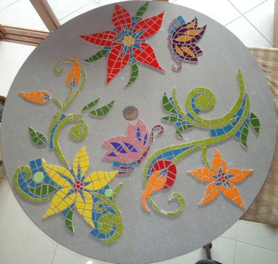 Monica mosaico desenho de flores para fazer mosaico for Dibujos para mosaiquismo