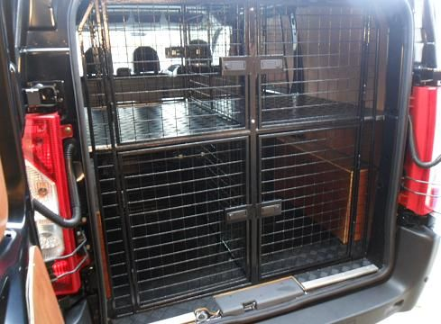 An Example Of One The Dog Walking Van Cage System We Built This Picture Shows A Rear View With Our Standard 2 X Cages Which All Have Compress