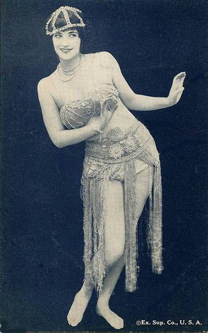 1920's Exotic Dancer Arcade Card - Exhibit Supply Co., USA