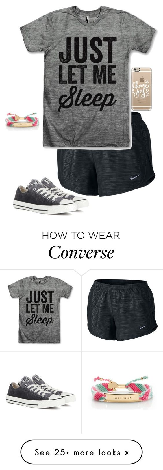 """Facetime"" by livimay on Polyvore featuring NIKE, Converse, Casetify and Kate Spade"