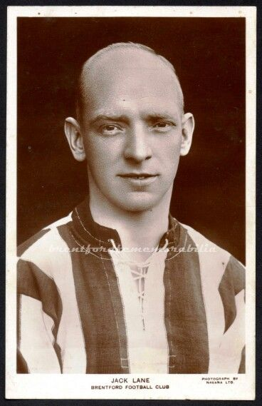 Jack Lane of Brentford in 1928.