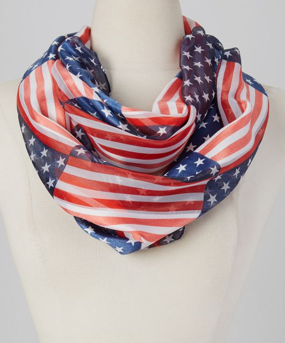 Look at this Red & Blue American Flag Infinity Scarf on #zulily today!