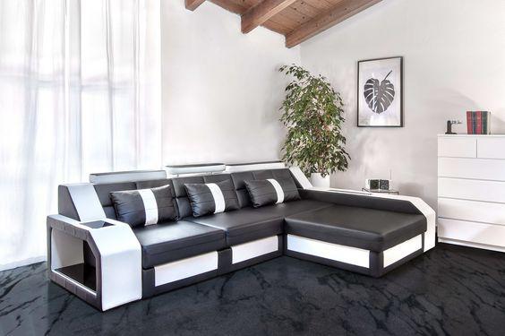 Divano e divano letto Antares by Divanovait Bianco \ Nero - gemütliches sofa wohnzimmer