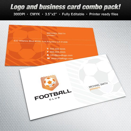A Logo \ Business Card Set Design suitable for sports themes - club card design
