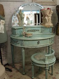Sea foam green Vanity