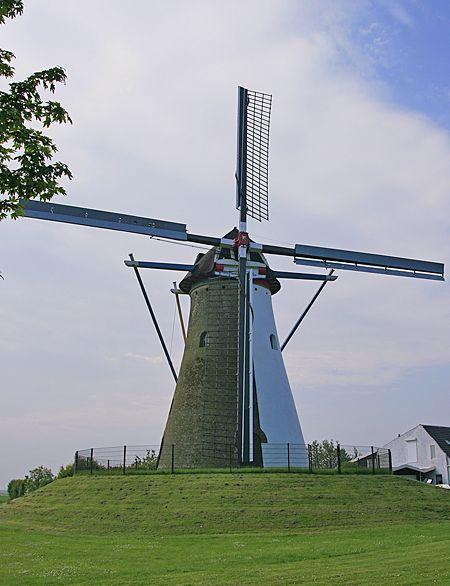 Flour mill De Oude Molen, Colijnsplaat, the Netherlands