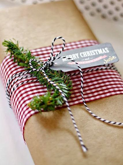 Gift Wrap Thick Ribbon Wrapped Around The Package With A