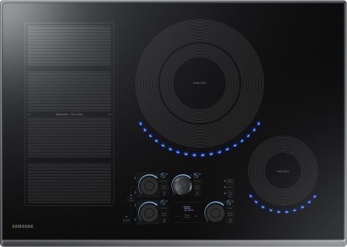 Samsung Nz30k7880ug 30 Inch Induction Cooktop With Flex Zone 15 Heat Settings Power Boost Melt Mode Simmer Control Virtual Flame Surface Lights Timer Con Induction Cooktop Cooktop Stainless Steel Cooktop