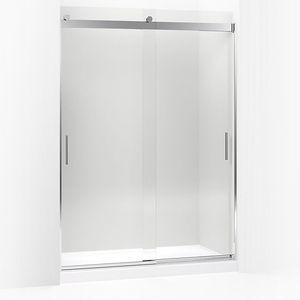K706013 L Shp Levity Shower Door Sliding Shower Door Bright