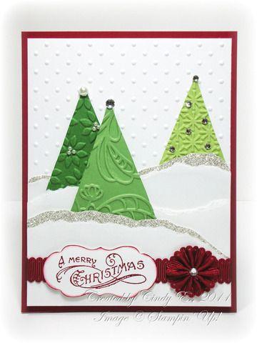 Nice embossed Christmas Tree card.
