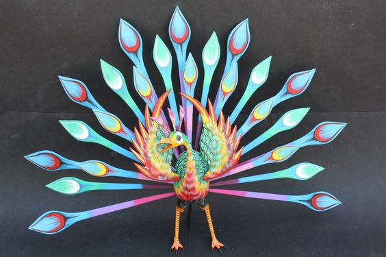 Mexican oaxaca art handpainted woodcarving alebrije for Oaxaca mexico arts and crafts