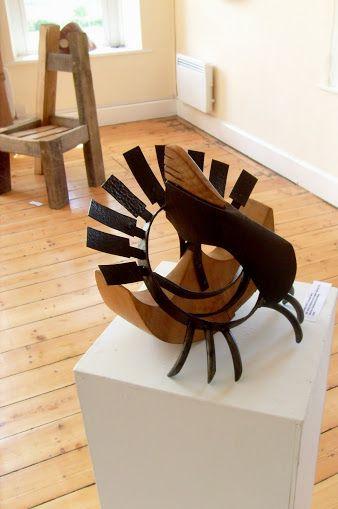 Recycled Metal and wood sculpture by martiensbekker.co.uk, port isaac, cornwall, Loshem Alef