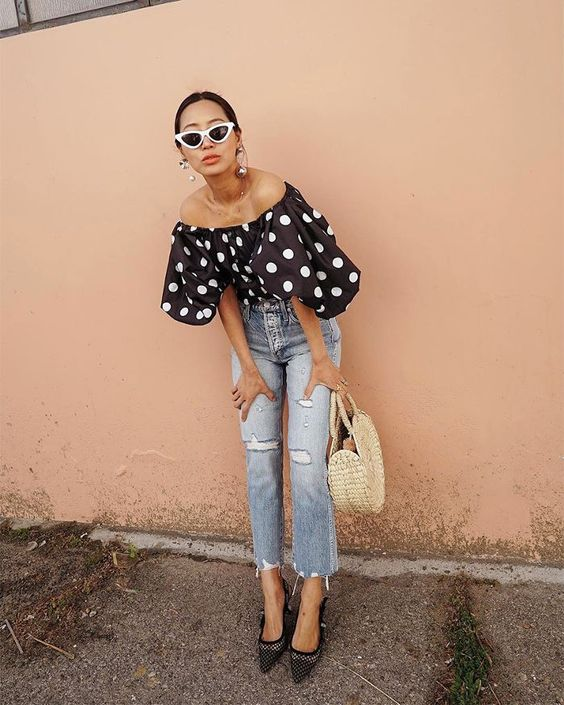 Cool polka-dot outfits