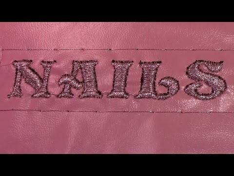 Positioning Embroidered Metallic Letters - YouTube
