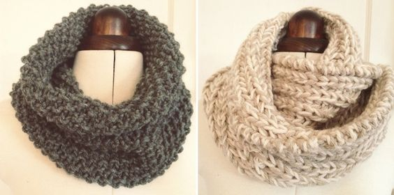 DIY Giftables #1: 2 simple snoods - a free knitting pattern Wool, Moss stit...