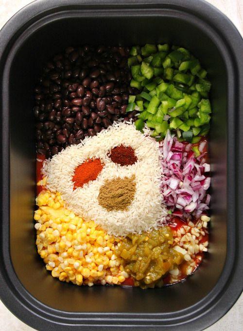 Southwestern Crock-Pot Chicken and Rice RecipeReally nice  Mein Blog: Alles rund um die Themen Genuss & Geschmack  Kochen Backen Braten Vorspeisen Hauptgerichte und Desserts # Hashtag