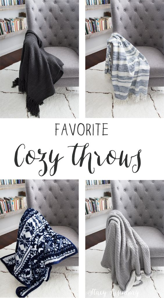 Favorite Cozy Throws| Not JUST A Housewife - Featured at Home Matters   Linky Party 117