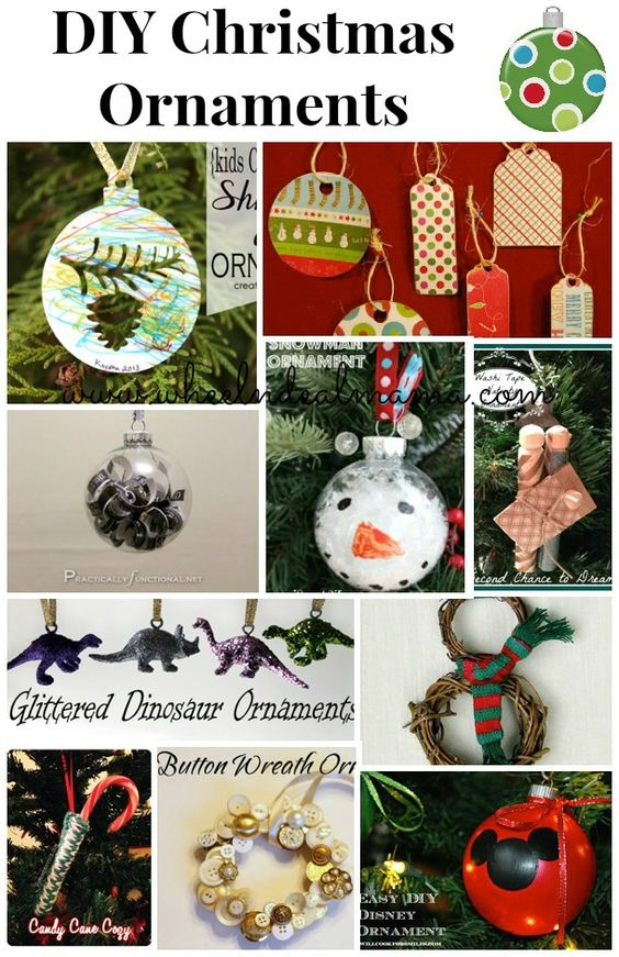 10 do it yourself christmas ornaments the o 39 jays diy for Christmas decorations to make yourself