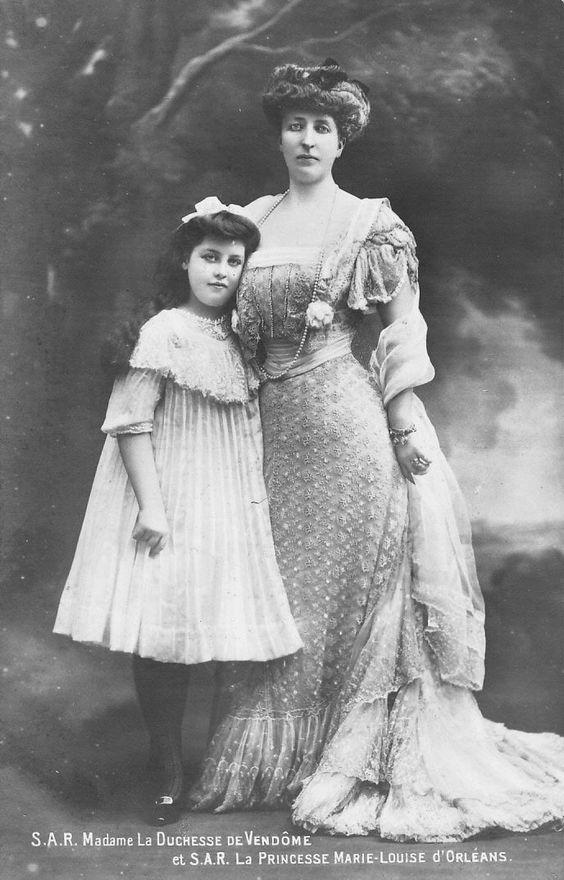 Madame la duchesse de Vendôme and la princesse Marie Louise d'Orleans From pinterest.com/ajackson1912/house-of-orleans/.jpg