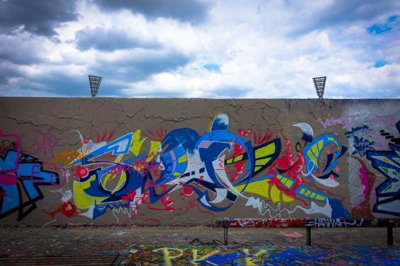 graffiti in mauerpark berlin juni 2015  urbanpresents  streetart urbex graffiti