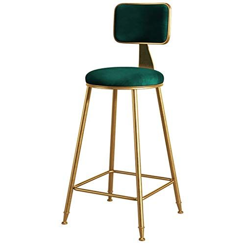 Metal Bar Stool Chair Without Armrests Four Legs Modern Kitchen Dining Chair High Stool Color Green Size Sit Bar Stool Chairs Bar Stools