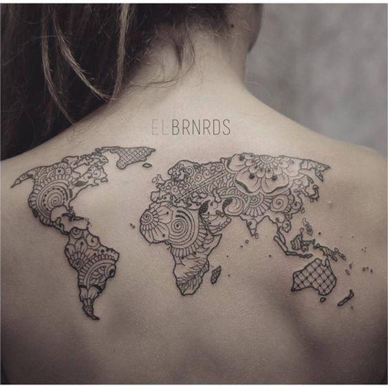 Tatuaje Mapa Del Mundo.Tatuajes De Lugares Tatuajes De Mapa Nuevos Tatuajes Tatuajes