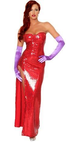 Since I am pregnant this year and my once fabulous body is bye bye for now, I will save this costume for next year.  I totally want to be Jessica Rabbit!
