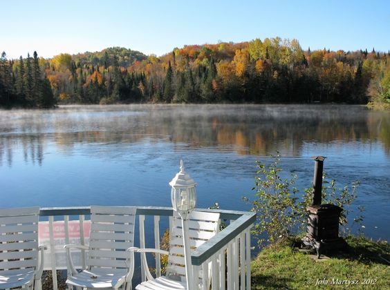 """""""Early Autumn Morning"""" Captured in my back yard, Laurentides, Quebec, Canada."""