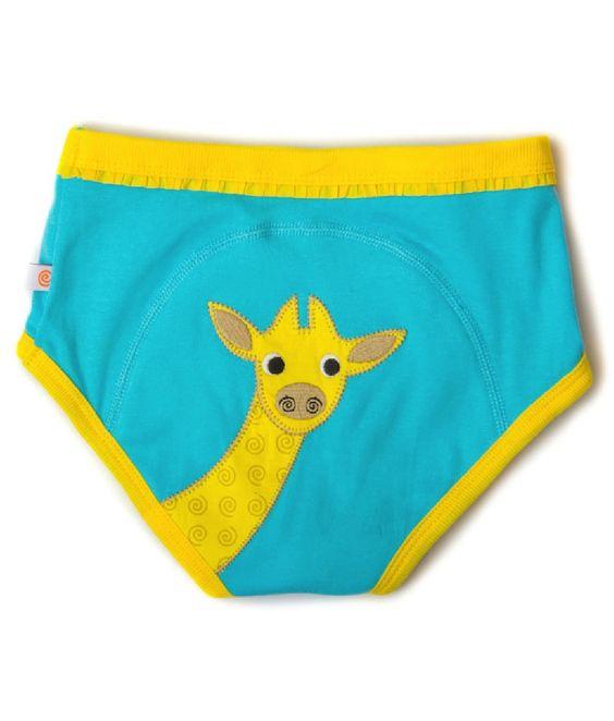 Die lustige Training Hose aus Bio Baumwolle für Mädchen ist ideal nach der Windel und vor der Unterhose.