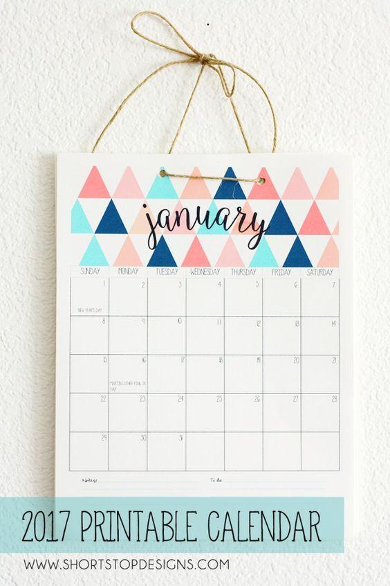 5 CALENDÁRIOS DE 2017 GRÁTIS PARA IMPRIMIR #calendario2017 #calendar2017 #calendario #free #gratis #download #printable: