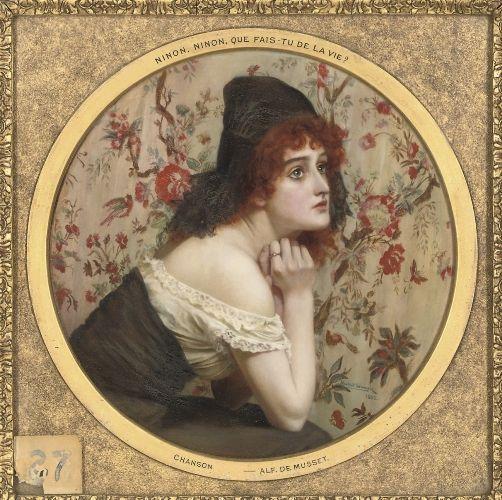 earwigbiscuits:  'Ninon, ninon, que fait tu de la vie?' - Alfred de Musset ~ Herbert Shmalz, 1900