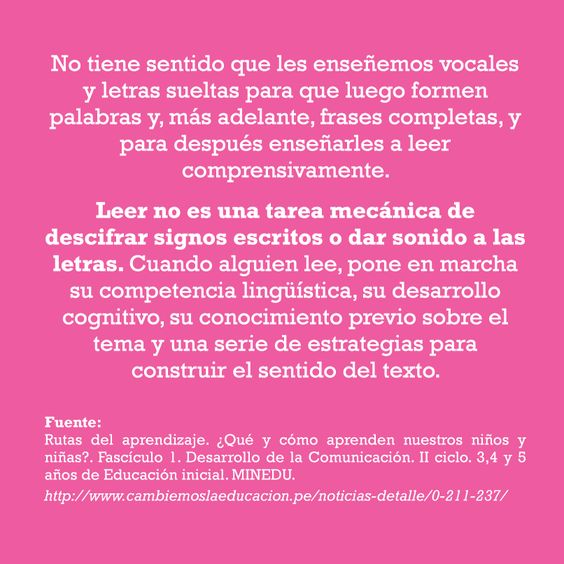 muy buena serie de posts sobre aprendizaje de lectoescritura en http://www.permisoparasernino.pe/