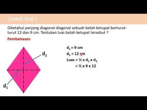 Luas Dan Keliling Belah Ketupat Matematika Belajar Video