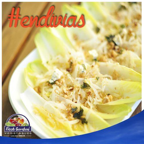 #SabíasQue...Las hojas de #endivia tienen un ligero sabor amargo que dan un sabor fuerte a las ensaldas. Son hojas tiernas, crujientes y bajas en calorías.