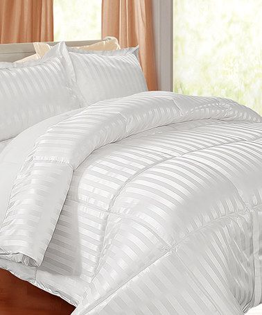 Love this White Damask Kathy Ireland Down-Alternative Comforter Set on #zulily! #zulilyfinds
