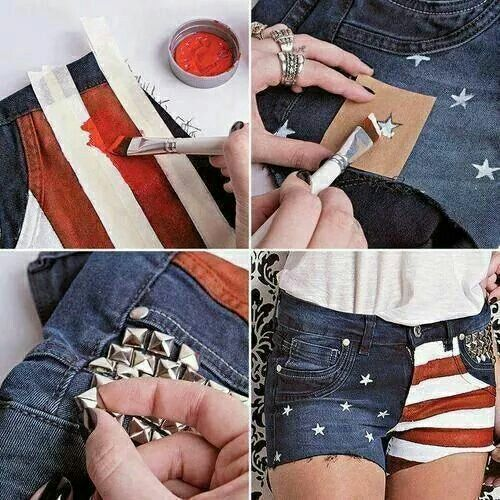 DIY Fourth of July Shorts #merica https://m.facebook.com/Stylisheve