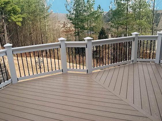 Decks Composite Decking And Railings On Pinterest