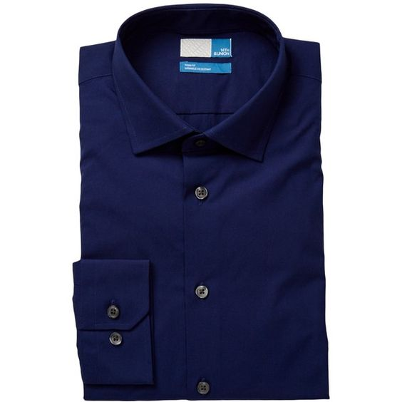 14th & Union Long Sleeve Trim Fit Solid Dress Shirt (€27) ❤ liked on Polyvore featuring men's fashion, men's clothing, men's shirts, men's dress shirts, navy peacoat, mens cotton dress shirts, mens dress shirts, mens longsleeve shirts, mens cotton shirts and mens long sleeve cotton shirts