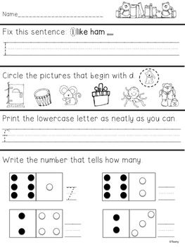 Worksheets Daily Morning Work 1st Grade first grade morning work 1 language math and art daily arts review