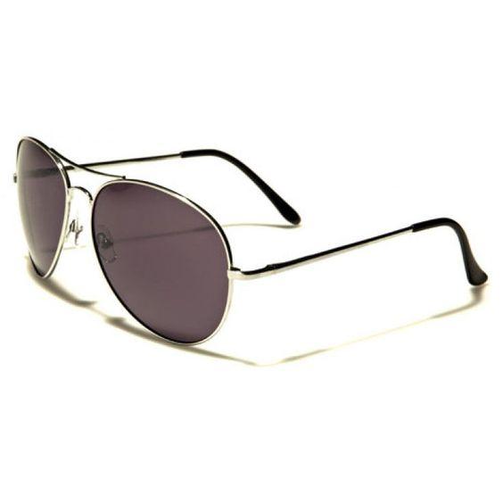 Air Force Men Metal Aviator Sunglasses Silver with Gray Lenses