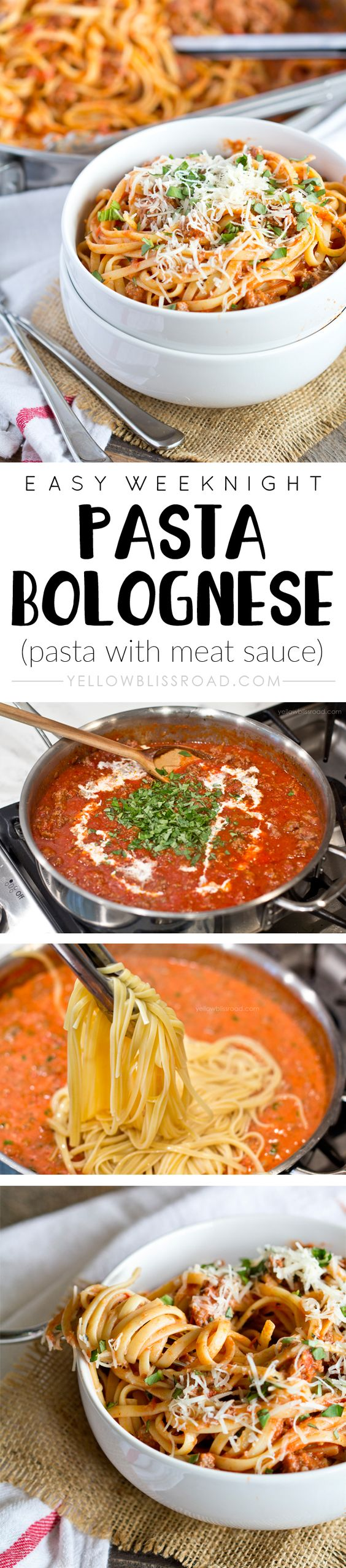 Easy Weeknight Spaghetti with Meat Sauce | Recipe | Pasta, Sauces and ...