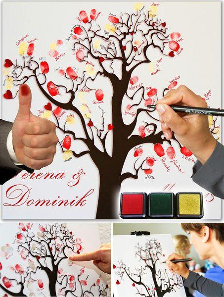 Geschenk+fürs+Brautpaar:+Fingerabdruck-Leinwand+von+galleryy+GmbH+auf+DaWanda.com