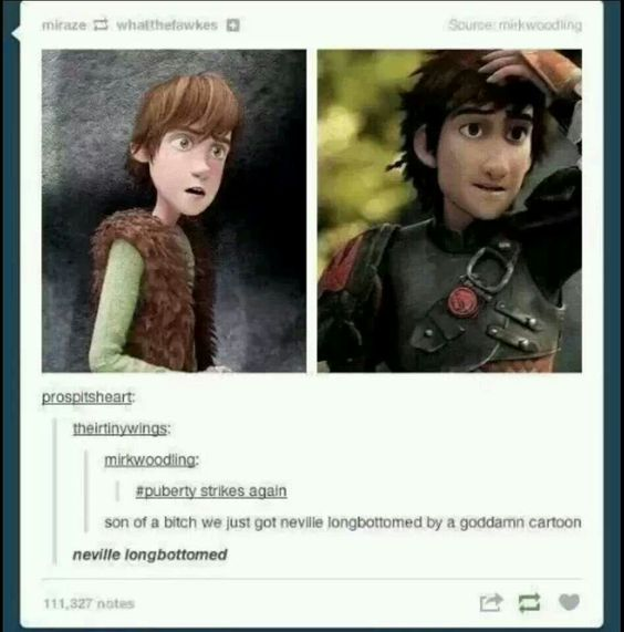 Movies puberty neville longbottom hiccup