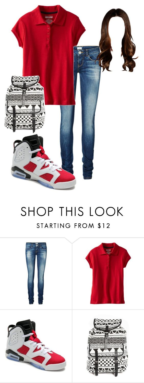 """Untitled #104"" by kimberly14kimberly ❤ liked on Polyvore featuring Vero Moda, Nautica, NIKE and Monki"
